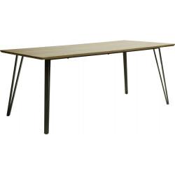 Table de salle à manger design en bois avec piétement en acier Sarah III
