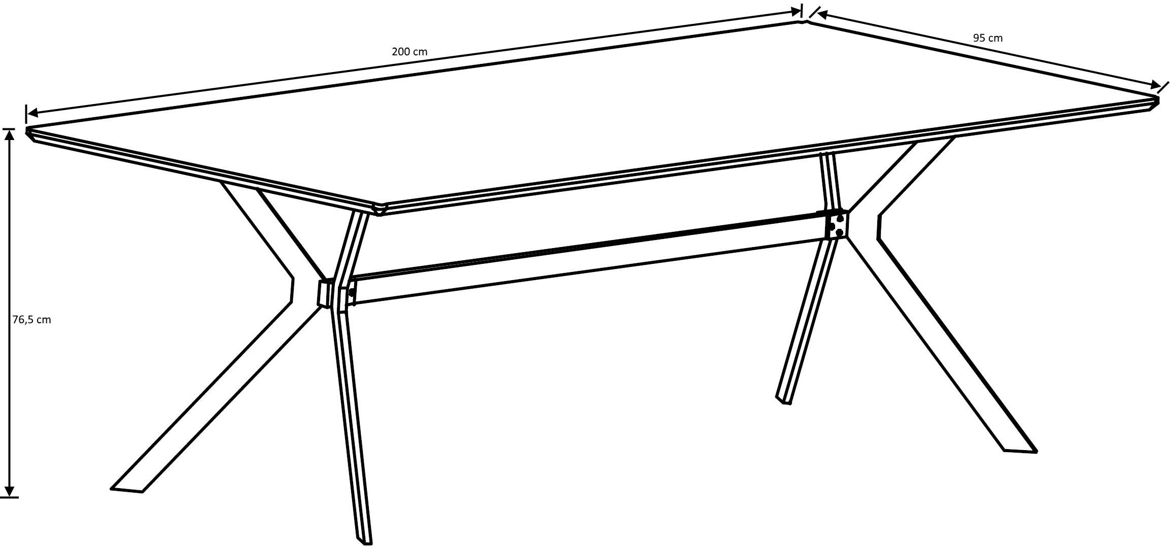 Table de salle manger vintage en bois avec pi tement en acier marguerite i matelpro - Table salle a manger bois acier ...