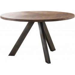 Table de salle à manger contemporaine ronde en bois massif Maud II