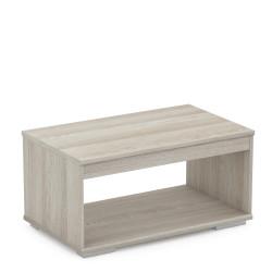 Table basse contemporaine chêne clair Sharone