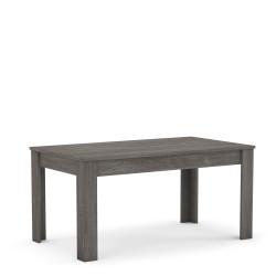 Table de salle à manger contemporaine chêne foncé Jemina