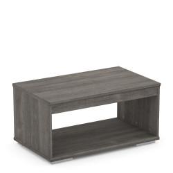 Table basse contemporaine chêne foncé Jemina