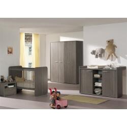 Chambre bébé contemporaine bouleau gris Lucie