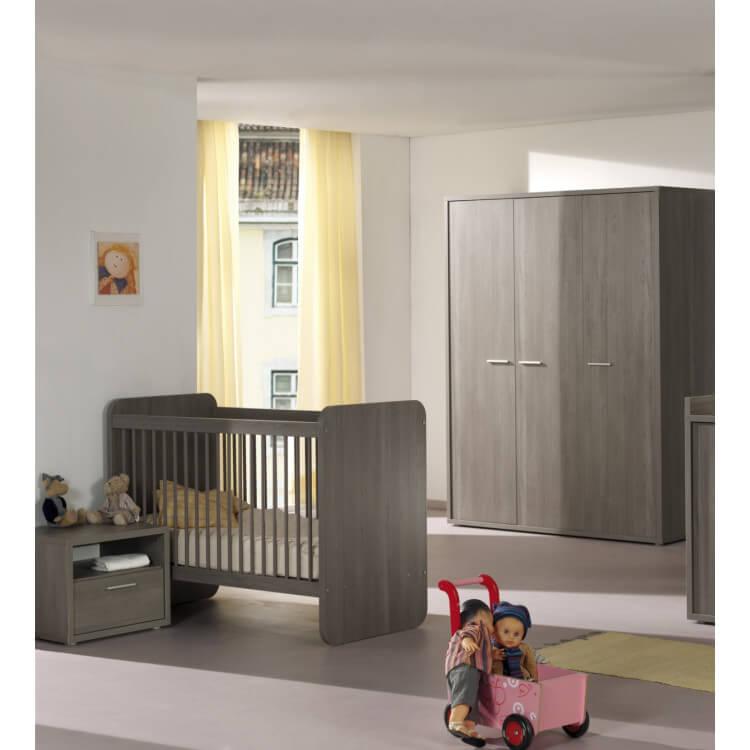 Chambre bébé contemporaine bouleau gris Lucia