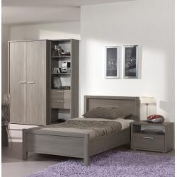 Chambre enfant contemporaine coloris bouleau gris Luca