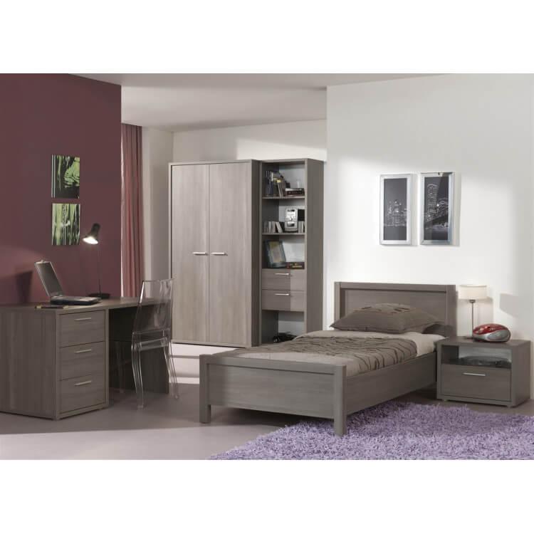 Chambre enfant contemporaine complète coloris bouleau gris Luca II ...