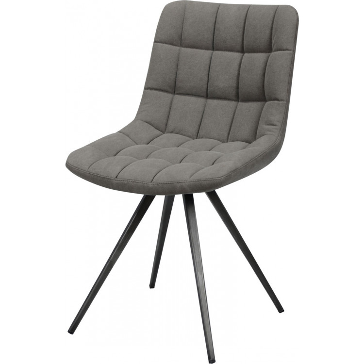 Chaise design en PU avec piètement en acier (lot de 2) Juliette