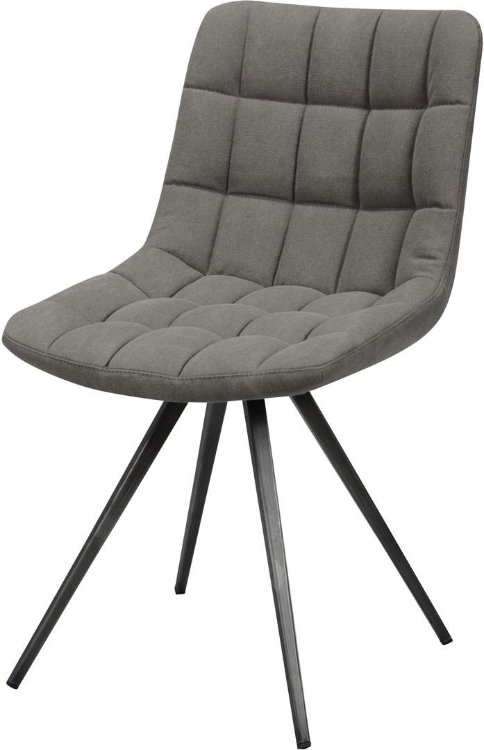 Chaise design en PU avec piétement en acier (lot de 2) Juliette