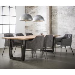 Chaise de salle à manger design en tissu (lot de 2) Yoni