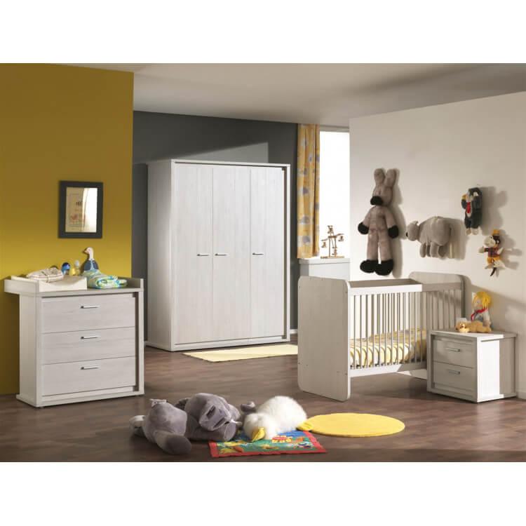 Chambre bébé contemporaine chêne gris Noa II