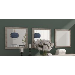 Miroir contemporain chêne wellington (lot de 3) Carnac