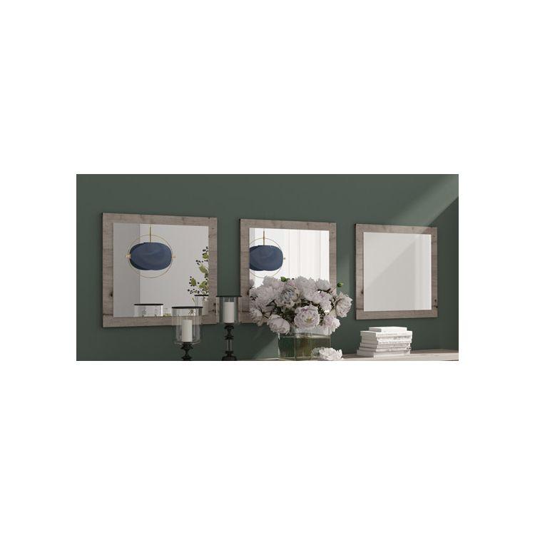 Miroir contemporain chêne wellington (lot de 3) Carnac
