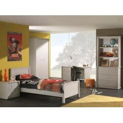Chambre enfant contemporaine coloris gris Noe
