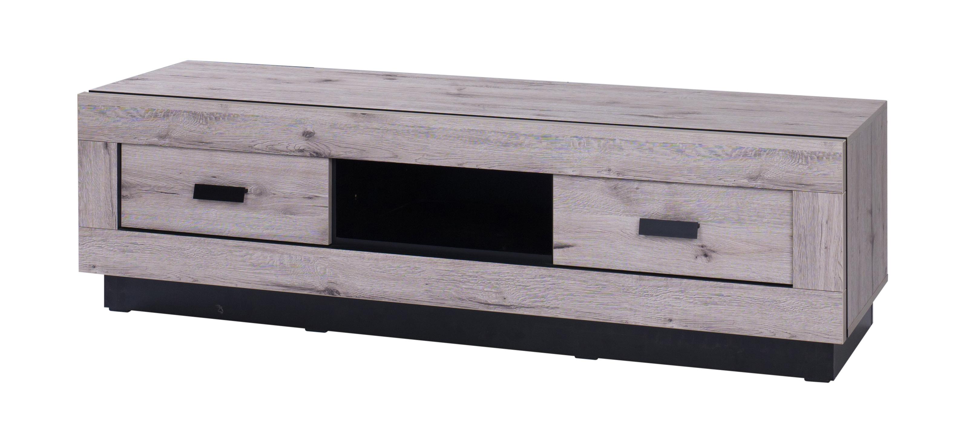 Meuble TV contemporain 170 cm chêne wellington Marbella
