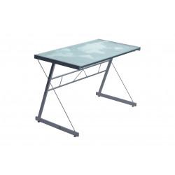 Bureau design métal et verre gris Agnès