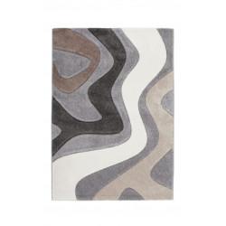 Tapis en polypropylène argenté design Maxine