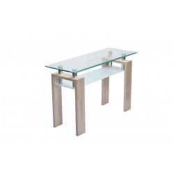 Console design verre et métal Emilie