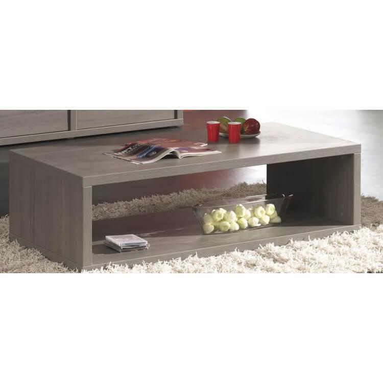 Table basse contemporaine bouleau gris Mayor