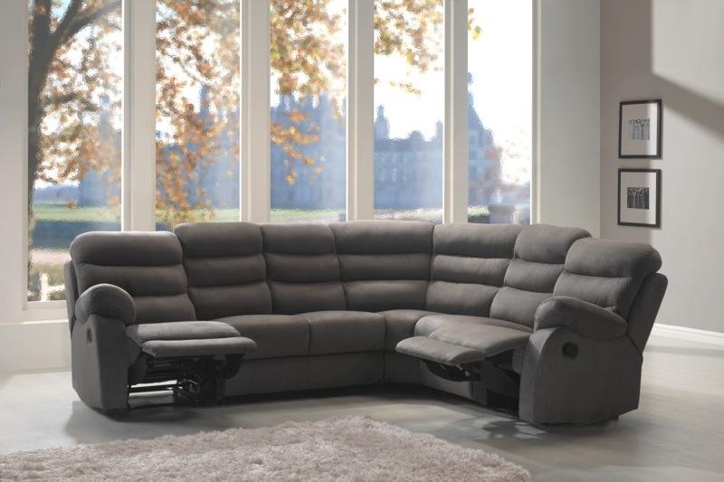 Canapé d'angle microfibre avec relax RONALD