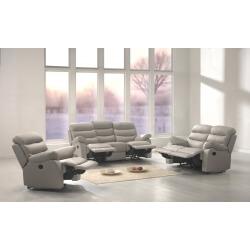 Fauteuil de relaxation manuel cuir RONALD