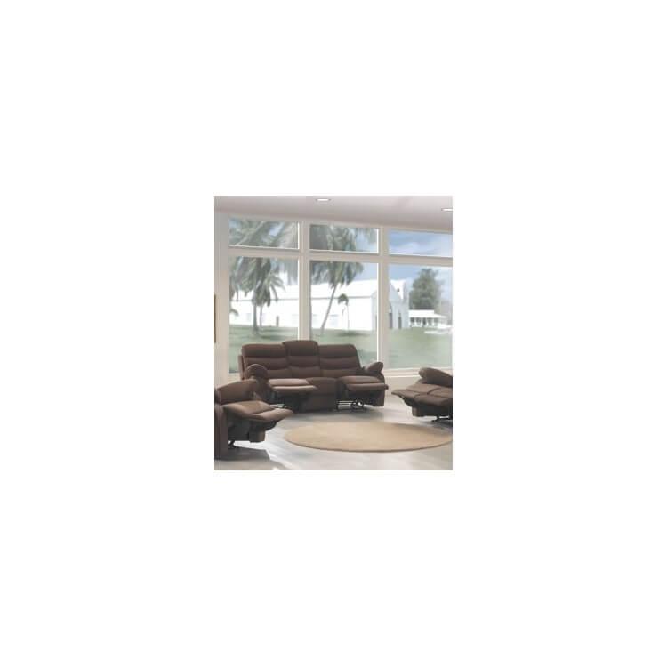 Canapé de relaxation 3 places 2 relax microfibre ARNOLD
