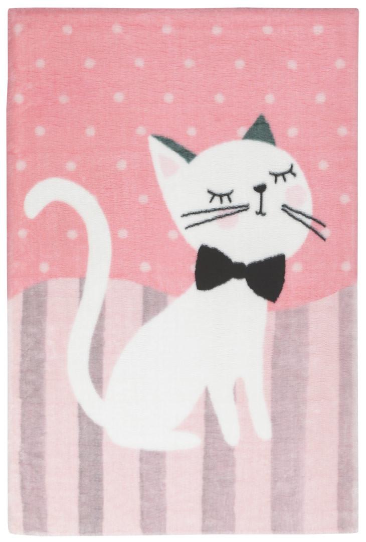 Tapis multicolore pour fille doux en polyester Kitty