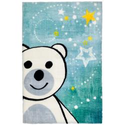 Tapis pour chambre bébé multicolore doux en polyester Ours