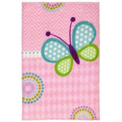 Tapis pour chambre de fille doux multicolore Butterfly