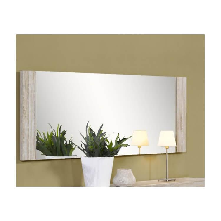 Miroir rectangulaire contemporaine chêne clair Sydney