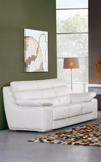 Canapé design fixe cuir 3 places RIMINI