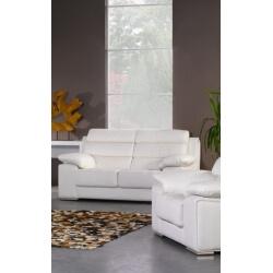 Canapé design fixe cuir 2 places RIMINI