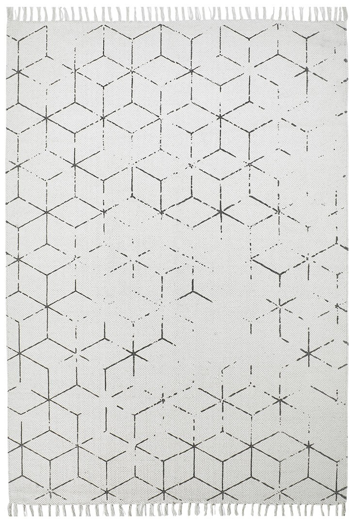 Tapis géométrique vintage plat Thor