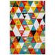 Tapis multicolore design géométrique pour salon Daiki