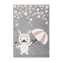 Tapis gris pour enfant rectangle Wild