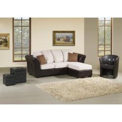 Canapé 3 places avec pouf MORPHEE