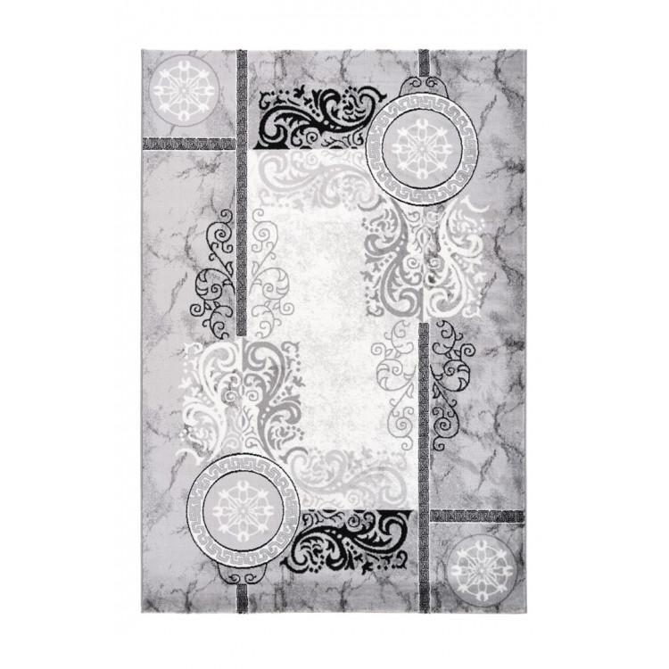 Tapis argenté baroque brillant Natpur