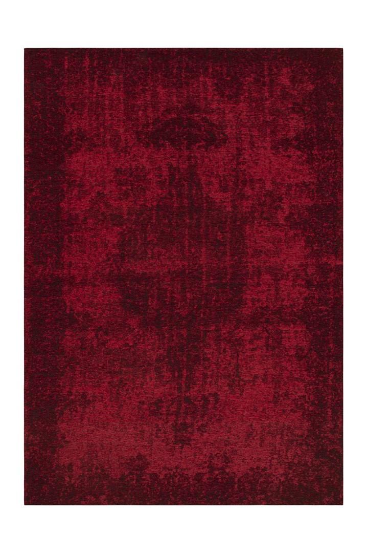 Tapis rouge effet vintage plat design Derek