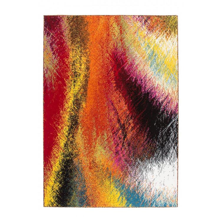Tapis design multicolore pour salle à manger Bruno