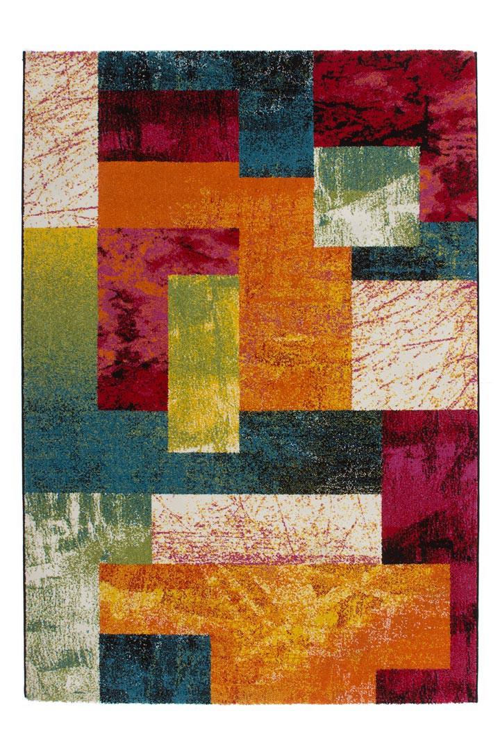 Tapis multicolore à courtes mèches design Gillo