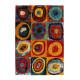 Tapis de salle à manger à courtes mèches multicolore Jordan
