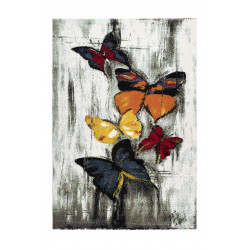 Tapis design papillon pour salon multicolore Ester