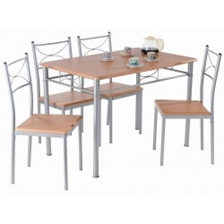 Ensemble table de cuisine et 4 chaises LONDON I