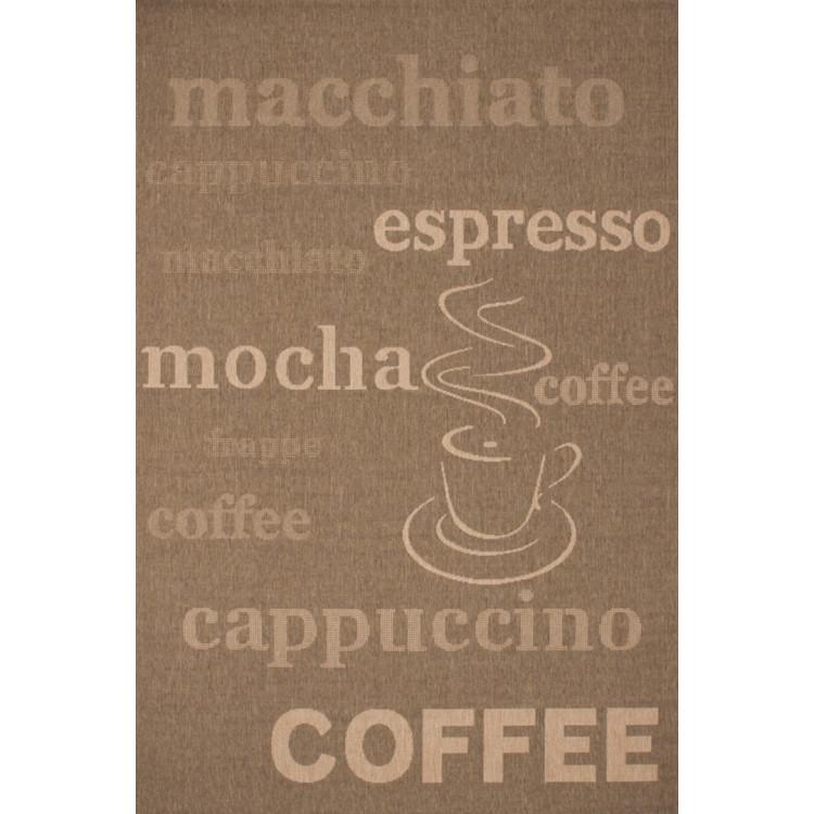 Tapis aux velours fins Fipoca Espresso