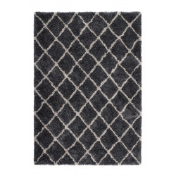Tapis shaggy graphite en polyester doux Grace