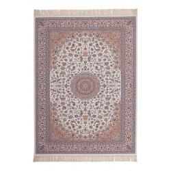 Tapis avec franges en acrylique style orient Isfahan