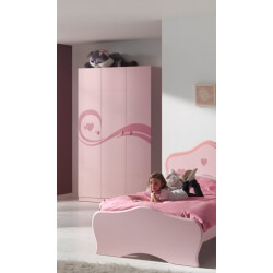 Armoire enfant  contemporaine rose Lorie