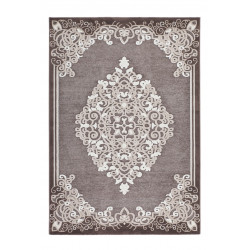Tapis baroque en polypropylène brillant Pacific