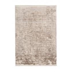 Tapis vintage avec franges rayé Celan