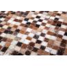 Tapis en cuir patchwork plat Patchwork