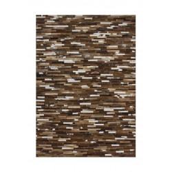 Tapis patchwork en cuir plat Patchwork